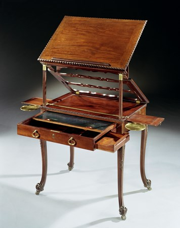 A GEORGE III MAHOGANY ARTIST'S TABLE ATTRIBUTED TO WILLIAM VILE