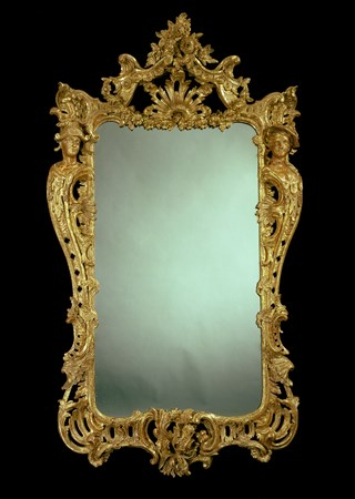 AN IMPORTANT GEORGE II GILTWOOD MIRROR IN THE MANNER OF MATTHIAS LOCK