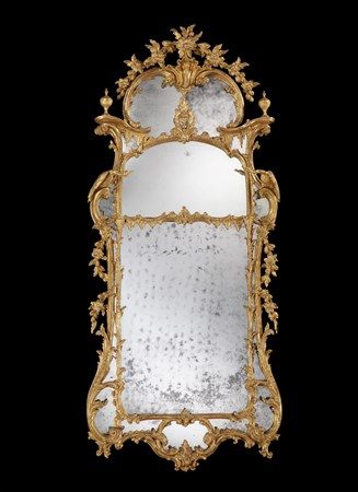 A GEORGE III GILTWOOD MIRROR ATTRIBUTED TO JOHN LINNELL