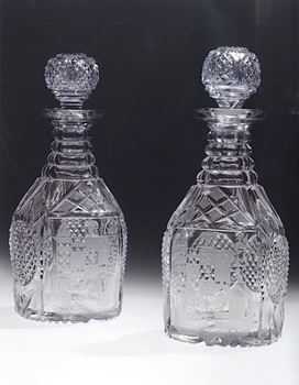 A PAIR OF GEORGE IV DECANTERS FROM THE LAMBERT SERVICE