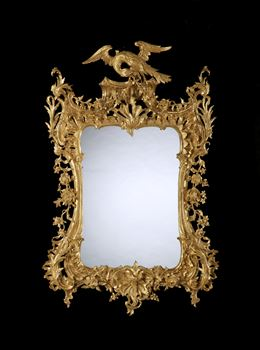 AN IRISH GEORGE II MIRROR