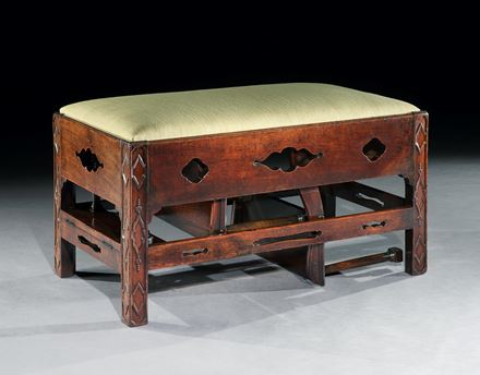 A GEORGE II MAHOGANY METAMORPHIC LIBRARY STEP STOOL