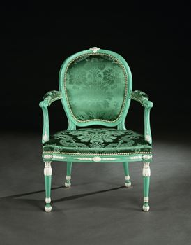 THE GARRICK CHAIR FROM NO. 5 ROYAL ADELPHI TERRACE