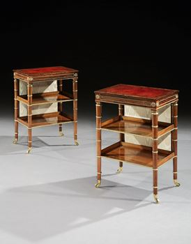 A PAIR OF REGENCY ROSEWOOD WORK TABLES ATTRIBUTED TO JOHN MCLEAN