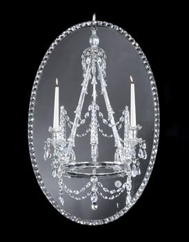 AN IRISH GEORGE III MIRROR CHANDELIER