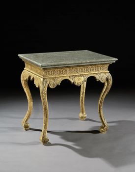 A GEORGE I GILT GESSO SIDE TABLE