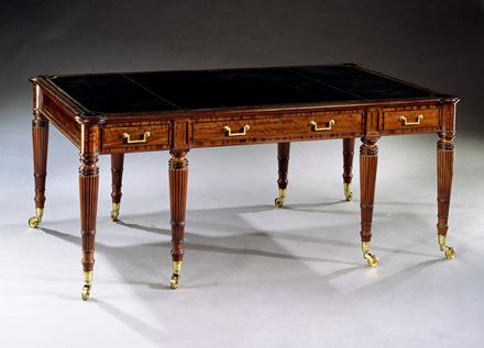 A REGENCY MAHOGANY LIBRARY TABLE ATTRIBUTED TO JOHN SYERS