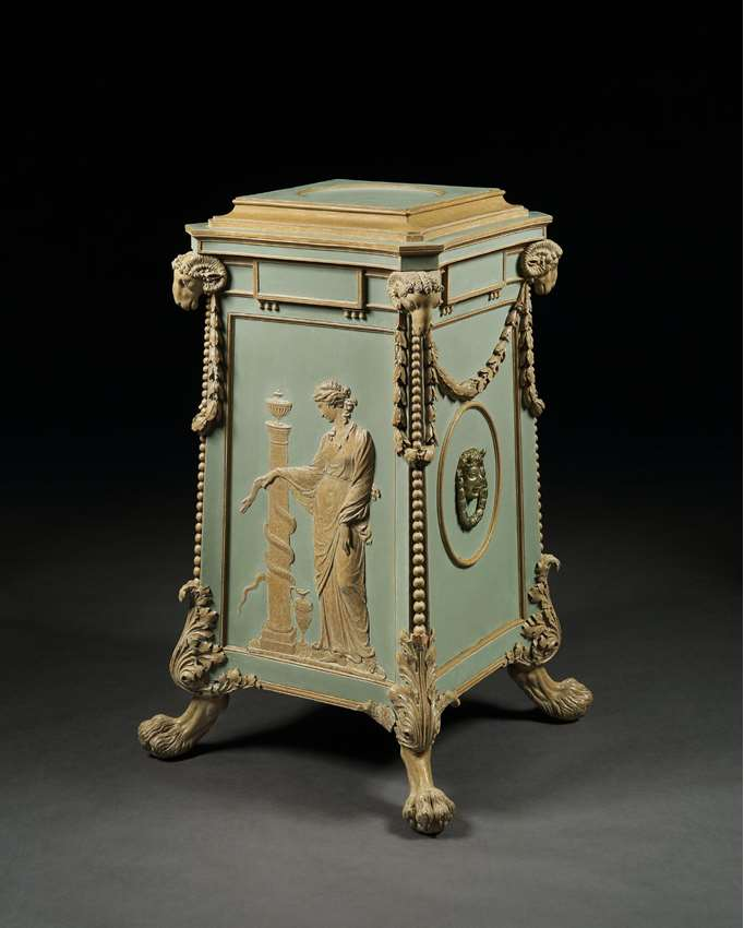 THE NEWBY HALL PLATE WARMER PEDESTAL FROM THE ETRUSCAN DINING ROOM SUITE