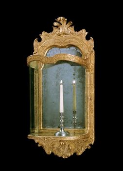 A GEORGE I GILT GESSO WALL LANTERN ATTRIBUTED TO JOHN BELCHIER