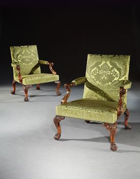 THE WIMPOLE HALL LIBRARY ARMCHAIRS