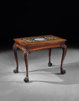 A PAIR OF GEORGE II MAHOGANY SIDE TABLES ATTRIBUTED TO BENJAMIN GOODISON