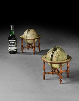 A PAIR OF GEORGE IV 6 INCH TABLE GLOBES BY CARY