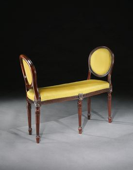 A PAIR OF GEORGE III MAHOGANY WINDOW SEATS