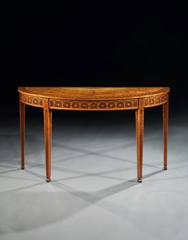 A PAIR OF GEORGE III SIDE TABLES ATTRIBUTED TO MAYHEW AND INCE