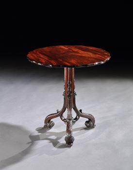 A GEORGE II MAHOGANY TRIPOD TABLE