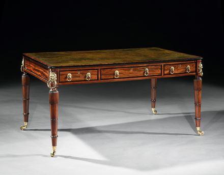 A REGENCY MAHOGANY WRITING TABLE