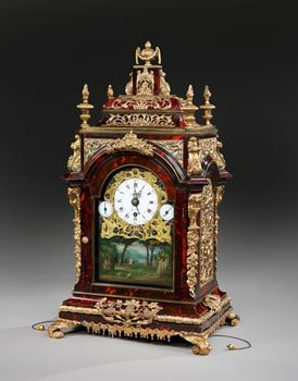 A GEORGE III MUSICAL AUTOMATA TABLE CLOCK BY JAMES COX