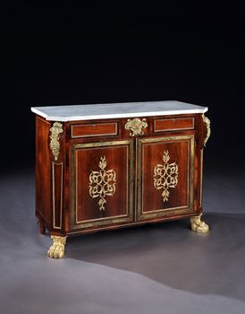 A PAIR OF REGENCY ROSEWOOD SIDE CABINETS ATTRIBUTED TO JOHN McLEAN & SON