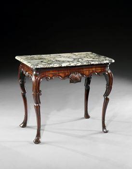 A PAIR OF IRISH GEORGE II MAHOGANY SIDE TABLES