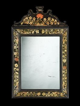 A CHARLES II SCAGLIOLA MIRROR ATTRIBUTED TO BALDASSARE ARTIMA