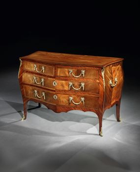 A GEORGE III BRASS MOUNTED MAHOGANY COMMODE