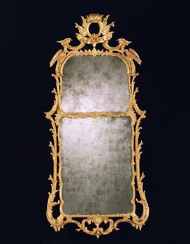 A GEORGE III GILTWOOD PIER GLASS