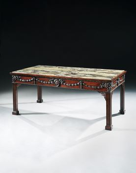 A GEORGE III MAHOGANY SERVING TABLE