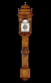 A GEORGE II WALNUT BAROMETER BY JOHN HALLIFAX OF BARNSLEY