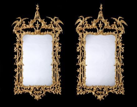 A PAIR OF GEORGE III GILTWOOD MIRRORS