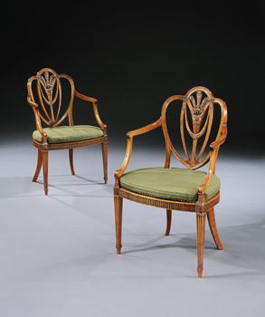 A PAIR OF 'PRINCE'S PATTERN' CHAIRS