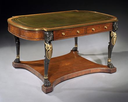 A REGENCY ROSEWOOD LIBRARY TABLE ATTRIBUTED TO GILLOWS