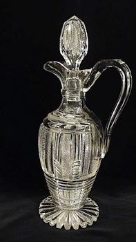 A VICTORIAN CUT GLASS CLARET JUG