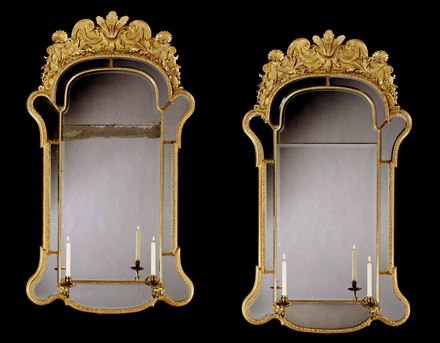 A MAGNIFICENT PAIR OF GEORGE I GILT-GESSO PIER-GLASSES BY JOHN ODY