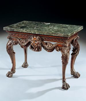 AN IMPORTANT GEORGE II WALNUT SIDE TABLE