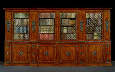 A REGENCY BRONZE-MOUNTED BOOKCASE IN THE MANNER OF THOMAS HOPE