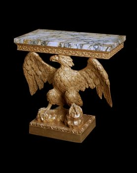 A GEORGE II GILTWOOD EAGLE CONSOLE TABLE ATTRIBUTED TO FRANCIS BRODIE