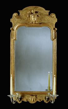 A GEORGE I GILT GESSO MIRROR