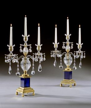 A PAIR OF GEORGE III CANDELABRA BY PARKER AND PERRY