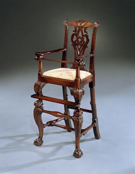A GEORGE III MAHOGANY CHILD'S CHAIR