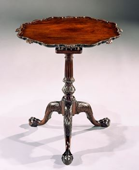 A GEORGE II CARVED MAHOGANY 'PIECRUST' TRIPOD TABLE