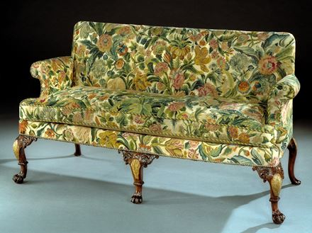 AN IMPORTANT GEORGE I NEEDLEWORK WALNUT SETTEE