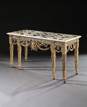 THE DAISY FELLOWES SPECIMEN MARBLE TABLE