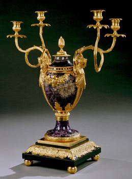 THE WARWICK CASTLE 'CARYATIC' CANDLE VASE