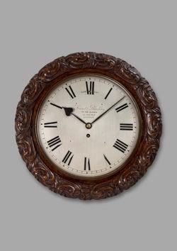 Victorian wall cased time piece by Lund & Brockley. Raffety Ltd