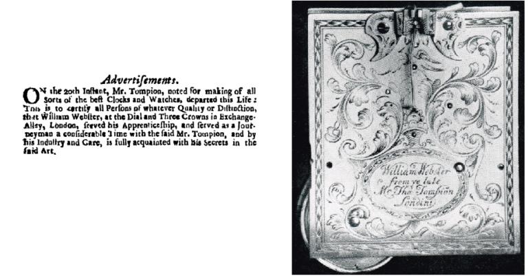 Advertisement from The London Gazette