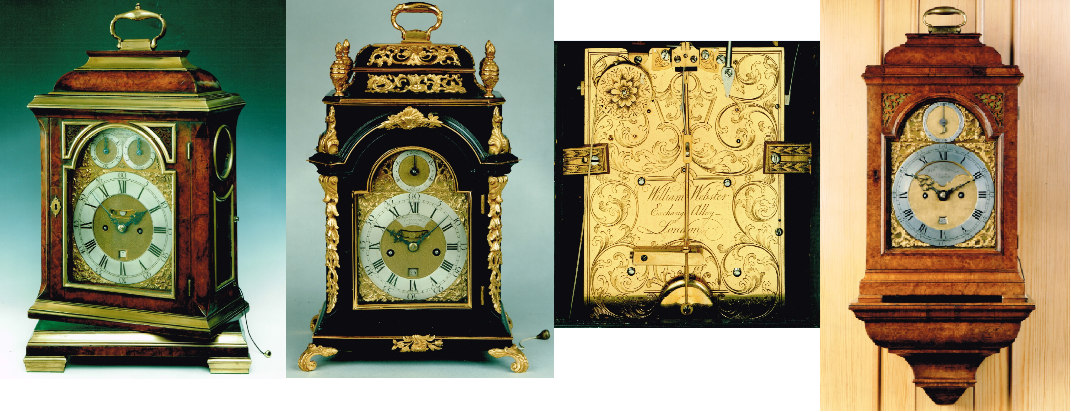 Four clocks by William Webster II