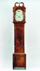 A Mahogany longcase Clock by Aaron Brokaw, circa 1830-40. Raffety Ltd