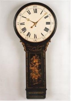 A tavern clock by Thomas Green of Baldock, circa 1785. Raffety Ltd.