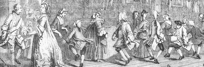Illustration of Dancers from Hogarth's Analysis of Beauty, 1753