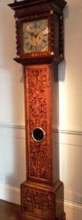 Queen Anne walnut longcase clock Carolus Cabrier , London. Raffety Ltd.